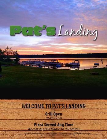 Pats's Landing Menu