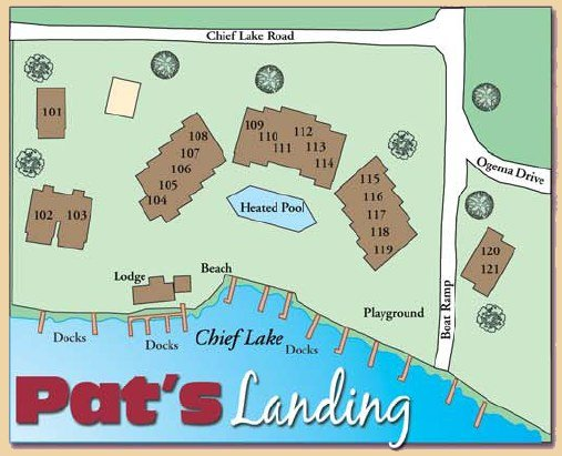 Pat's Landing Resort Map