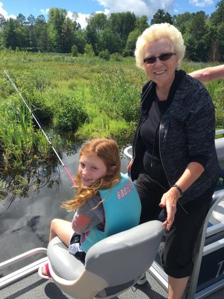 Grandma & kid fishing