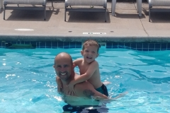 Dad & Son in Pool