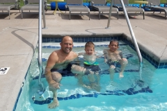 Dad & Sons in pool