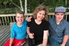 Mom & Boys on Sundeck