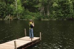 Boy Fishing Off TK Dock