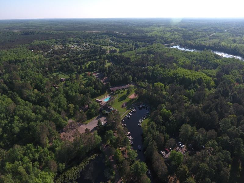 Treeland Harbor Aerial