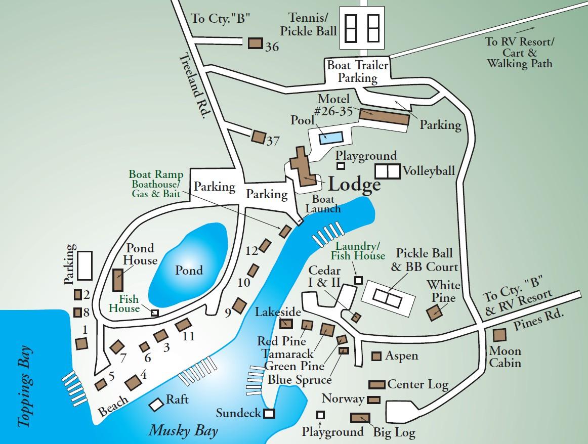Treeland The Original Map Treeland Resorts