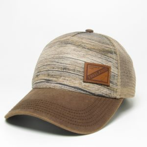 Fossil Trucker Hat with Mesh Back & Leather Applique