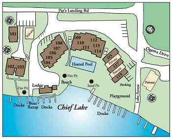 Cabin 103 at Pats Landing image  map