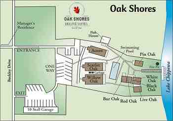 Pin Oak at at Oak Shores image  map