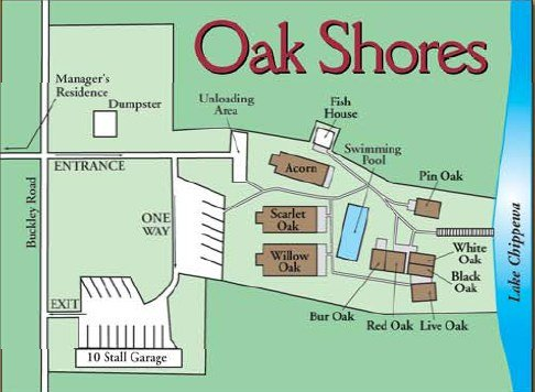 Oak Shores Resort Map