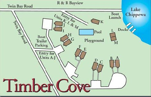 Timber Kove Resort Map