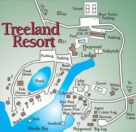 Resort Map Treelands