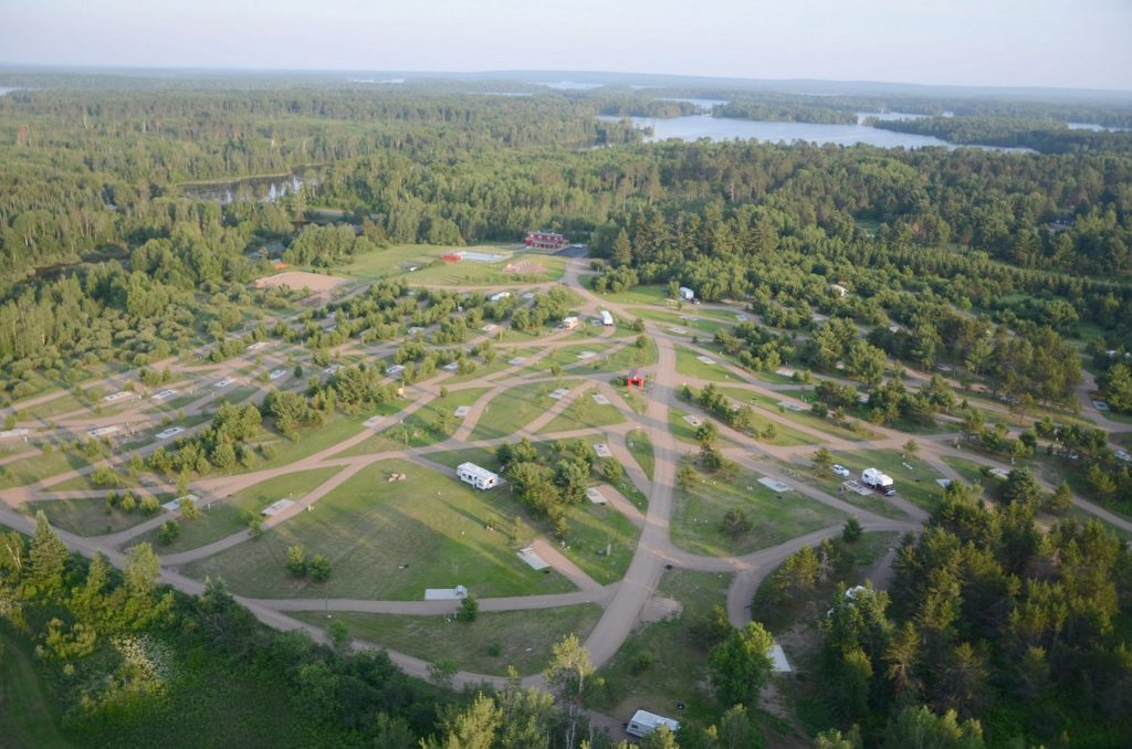 RV Resort Birds Eye View