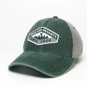 Dark Green Old Favorite Hat With Mesh Back