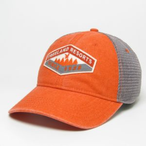 Orange Old Favorite Hat With Mesh Back