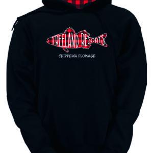 Buffalo Plaid Hooded Black Sweatshirt