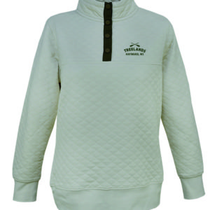 Ladies Quilted Snap Pullover