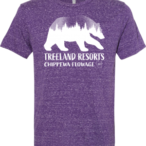 Eagle Bear Tee – Purple Snow Heather
