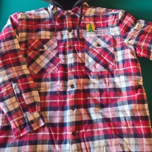 Red Plaid Lined Hooded Flannel
