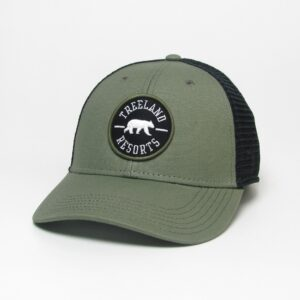 Olive Lo-Pro Snapback Trucker with Black Mesh