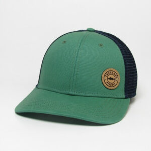 Kelly Green Mid-Pro Snapback with Navy Mesh